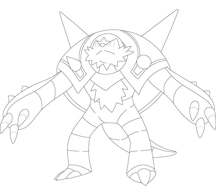 Pokemon Coloring Pages Chesnaught