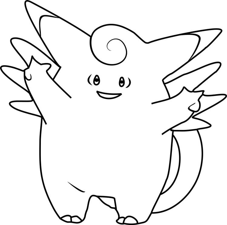 Pokemon Coloring Pages Clefairy