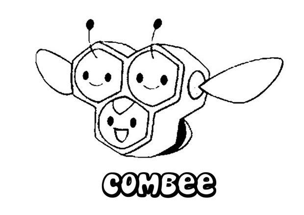 Pokemon Coloring Pages Combee