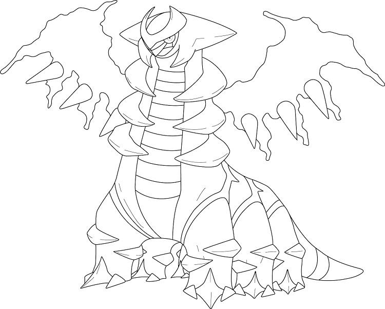 Pokemon Coloring Pages Giratina