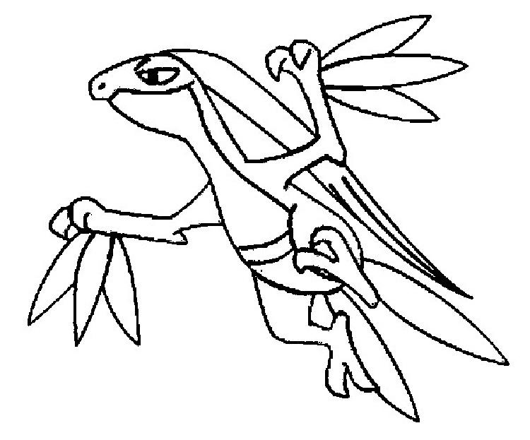 Pokemon Coloring Pages Grovyle