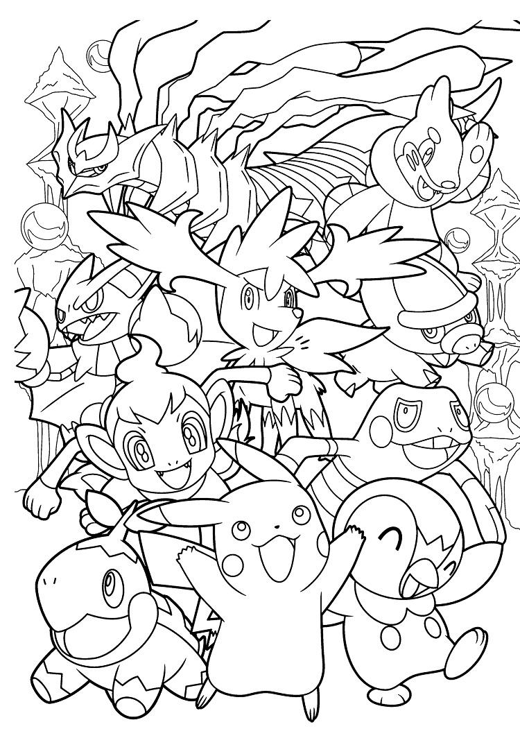 Pokemon Coloring Pages Hard