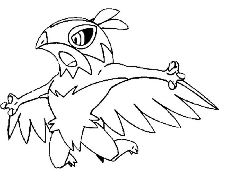 Pokemon Coloring Pages Hawlucha
