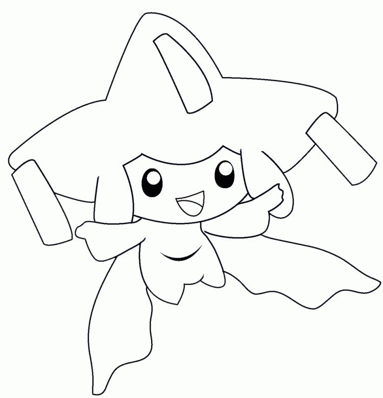 Pokemon Coloring Pages Jirachi