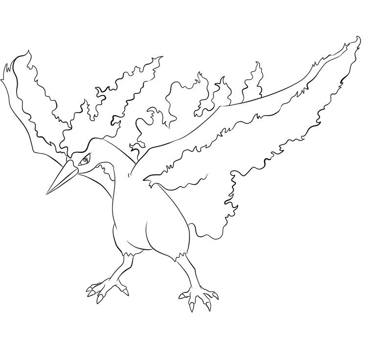 Pokemon Coloring Pages Moltres