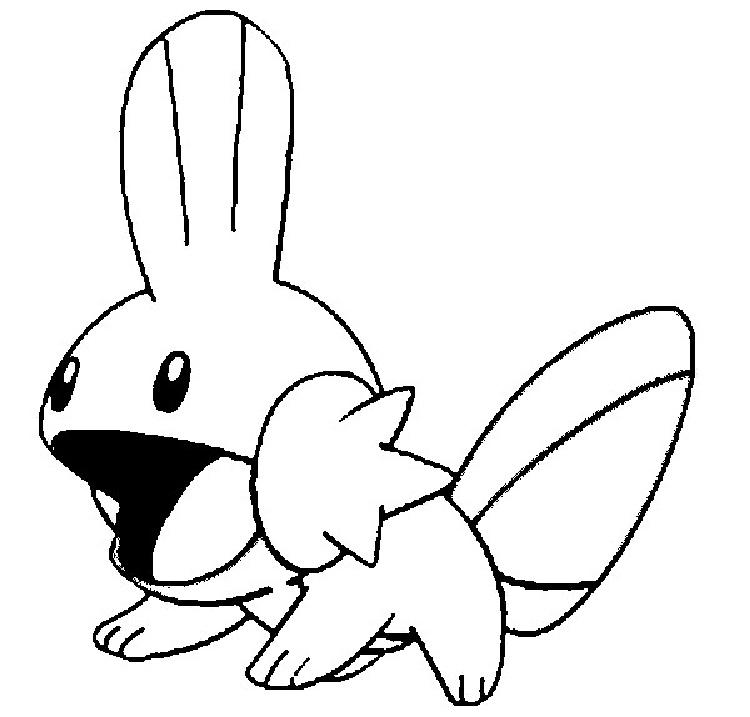 Pokemon Coloring Pages Mudkip