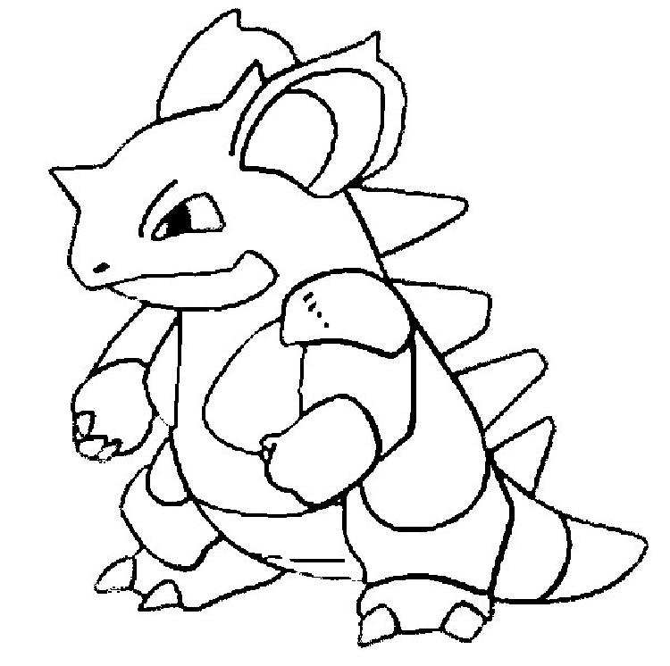 Pokemon Coloring Pages Nidoqueen