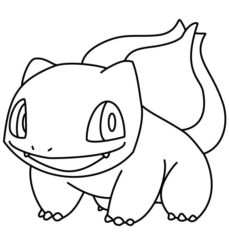 Pokemon Coloring Pages Of Bulbasaur