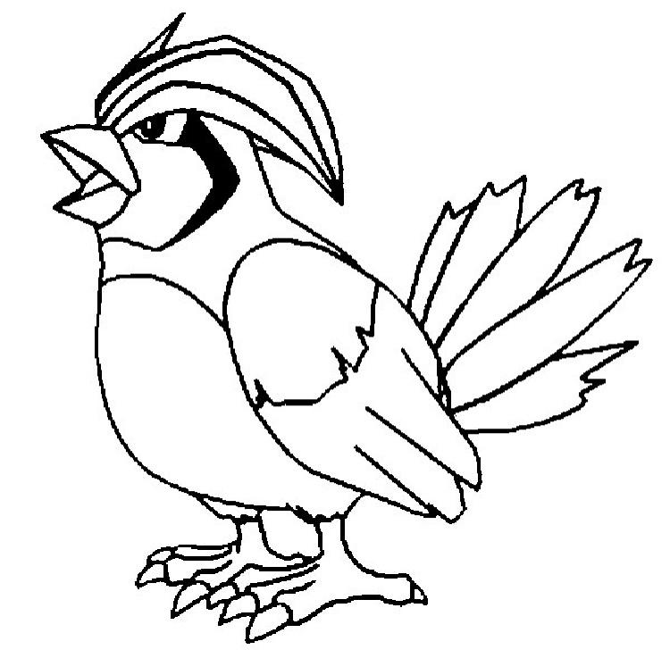 Pokemon Coloring Pages Pidgeotto