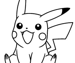 Pokemon coloring pages pikachu laughing