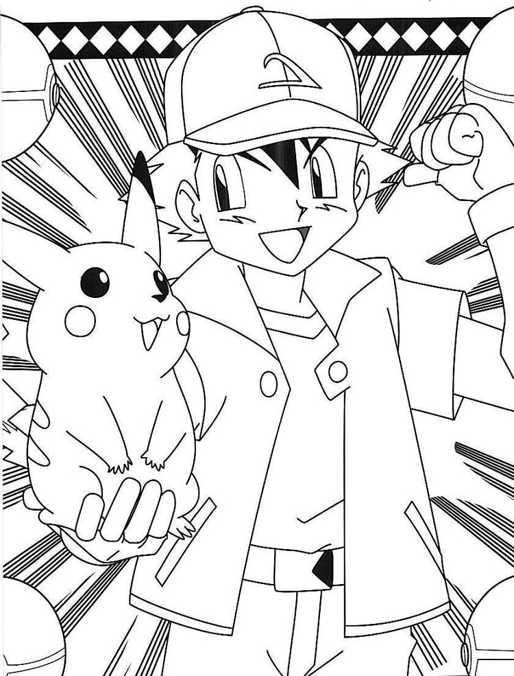 Pokemon Coloring Pages Pikachu Printable