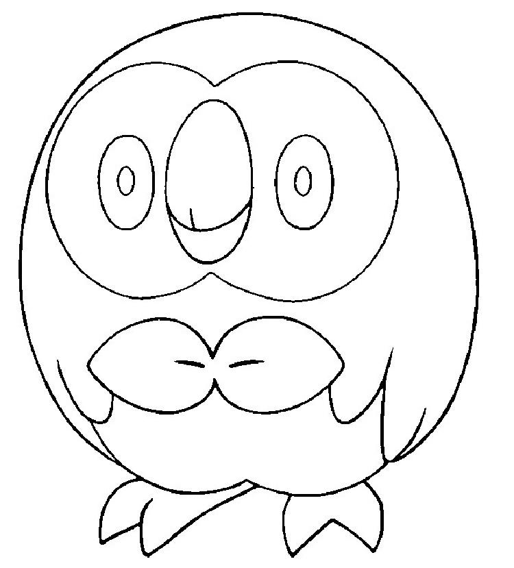 Pokemon Coloring Pages Rowlet