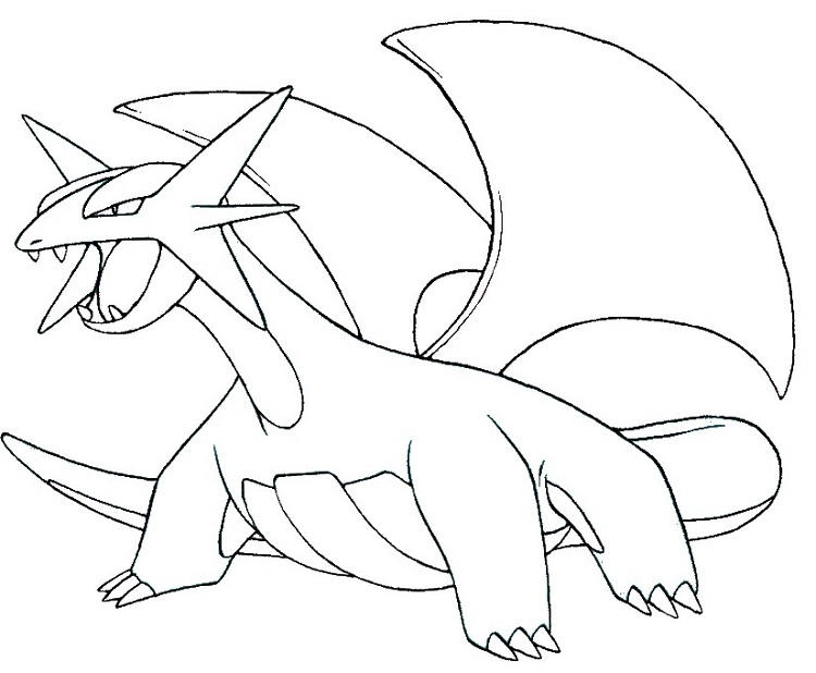Pokemon Coloring Pages Salamence