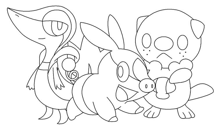 Pokemon Coloring Pages Starters