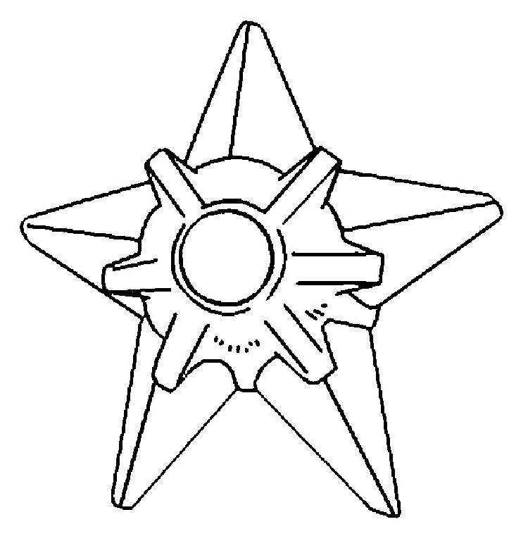 Pokemon Coloring Pages Staryu