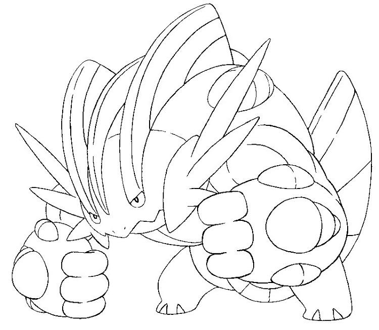 Pokemon Coloring Pages Swampert