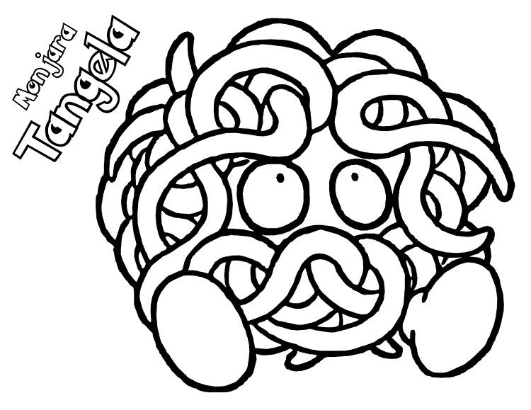 Pokemon Coloring Pages Tangela