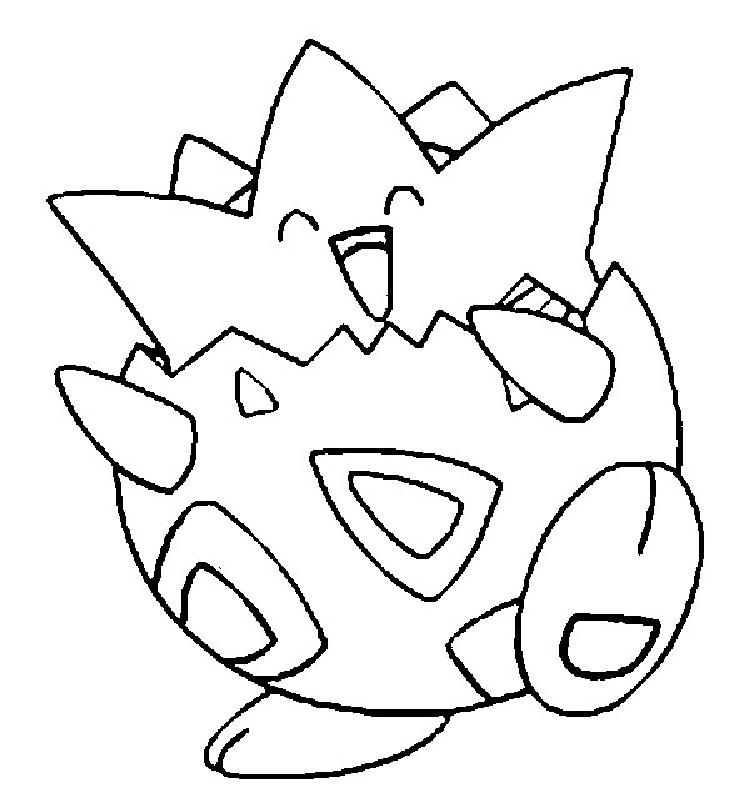 Pokemon Coloring Pages Togepi