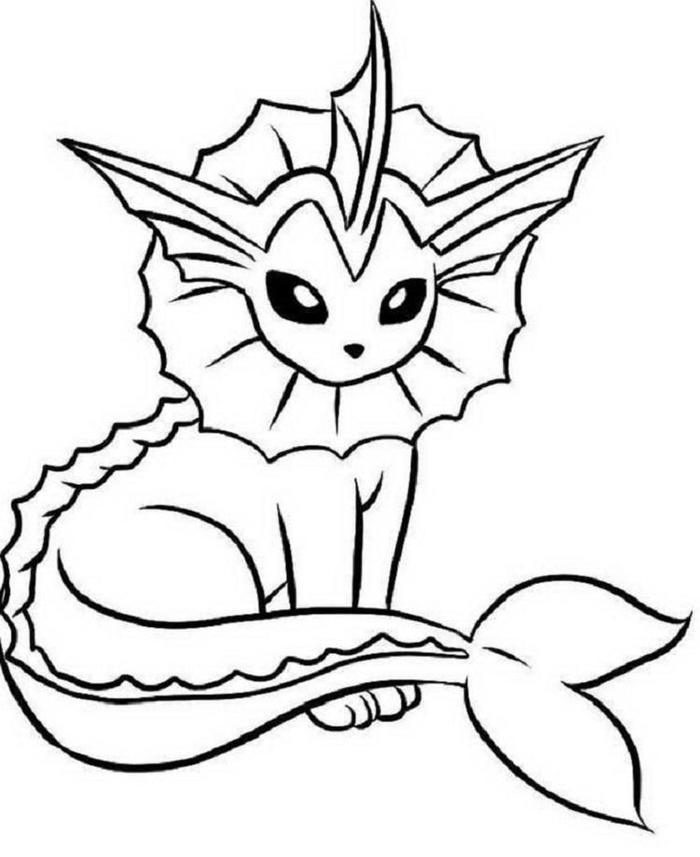 Pokemon Coloring Pages Vaporeon