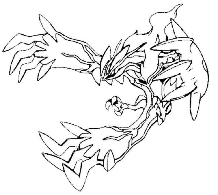 Pokemon Coloring Pages Yveltal