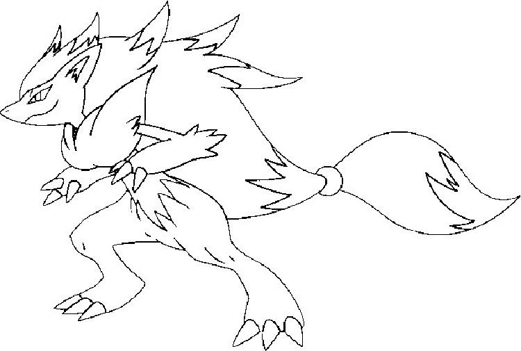 Pokemon Coloring Pages Zoroark