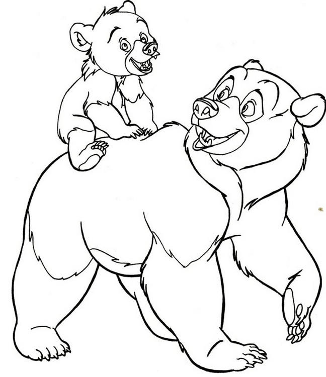 Polar Bear And Baby Winter Coloring Page