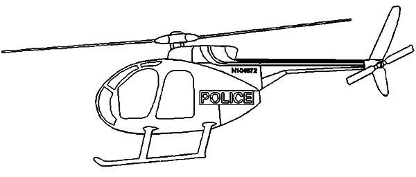 Police Chopper Coloring Pages