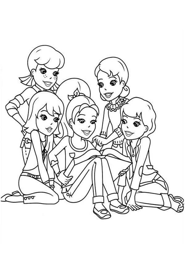 Polly Being Comforted By Her Friends In Polly Pocket Coloring Pages