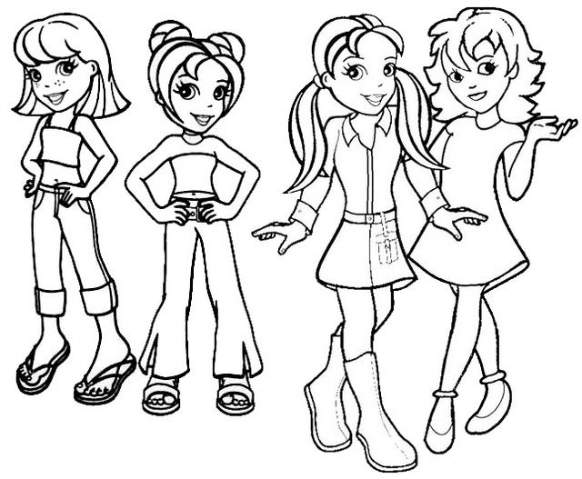 Polly Lea Lia Ana Crissy Lila Shani And Kerstie From Polly Pocket Coloring Page