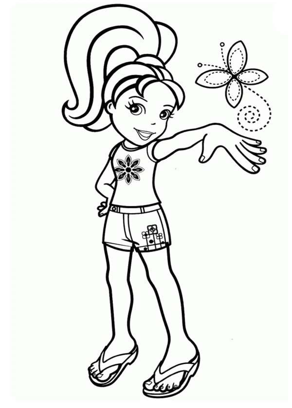 Polly Pocket And Little Beautiful Butterfly Inn Coloring Pages