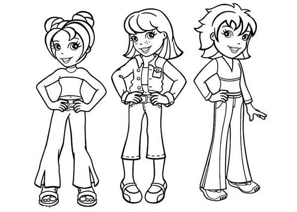 Polly Pocket Famous Characters Coloring Pages