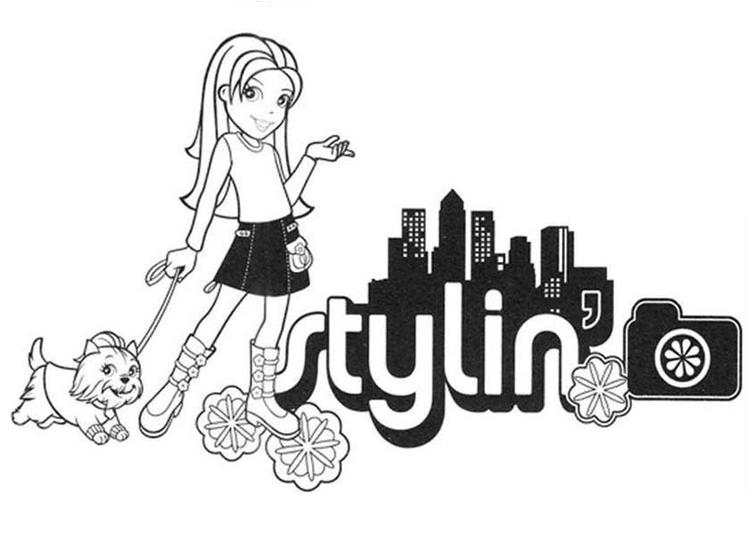 Polly Pocket Walking With Style Coloring Pages