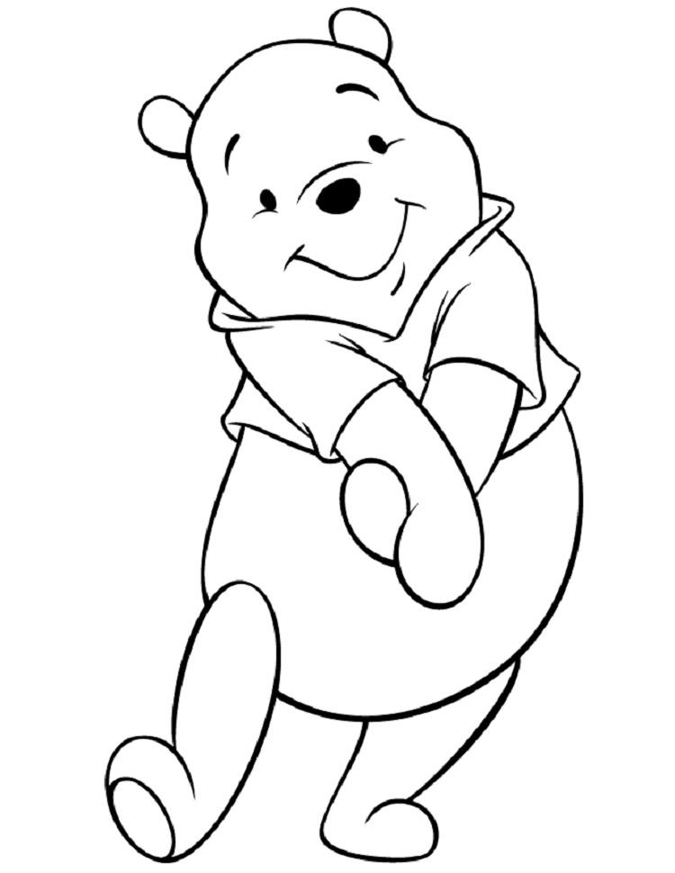 Pooh Bear Coloring Pages To Print