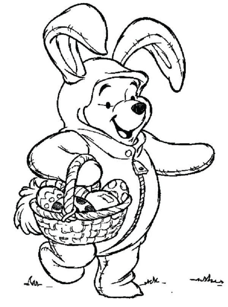Pooh Bear Easter Coloring Pages