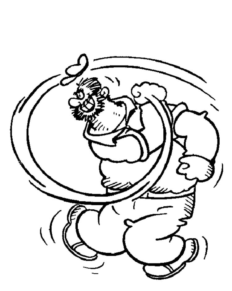 Popeye coloring pages bluto