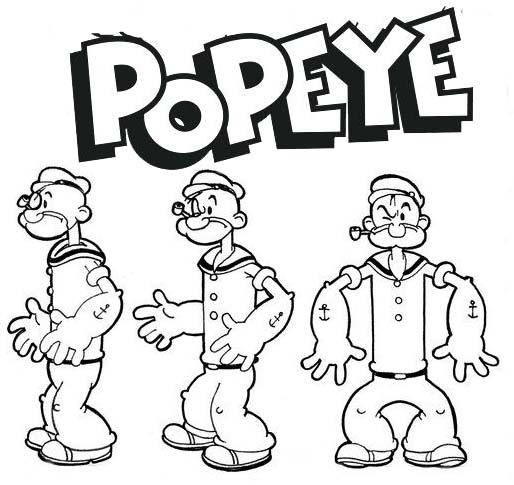 Popeye Sailor Coloring Page