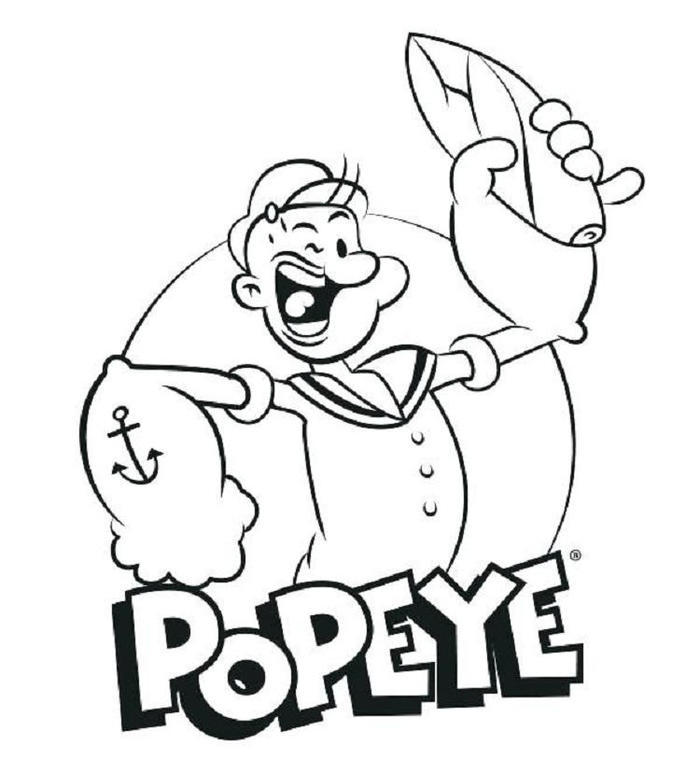 Popeye The Sailor Man Coloring Pages