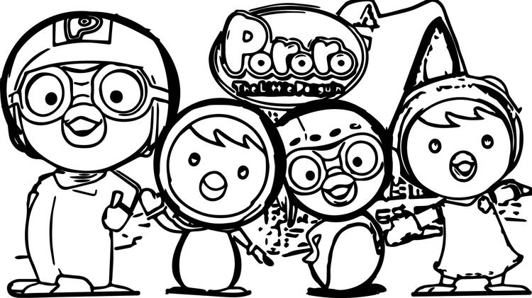 Pororo And Friends Coloring Pages Cover