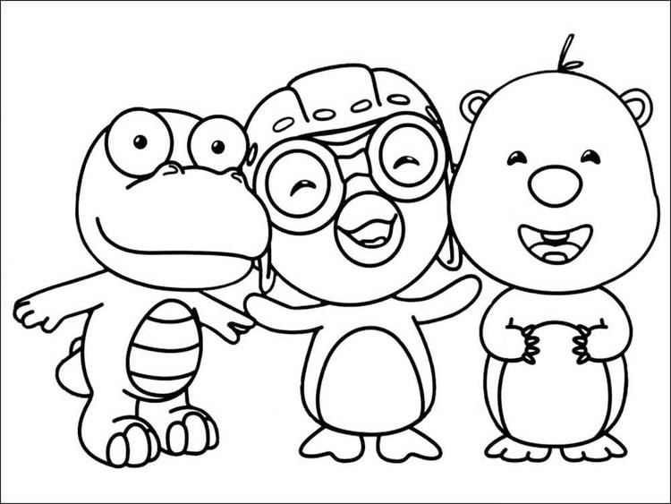 Pororo The Little Penguin And Friends Coloring Pages