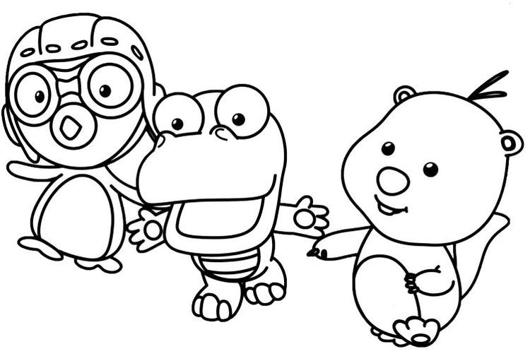 Pororo The Little Penguin Coloring Pictures