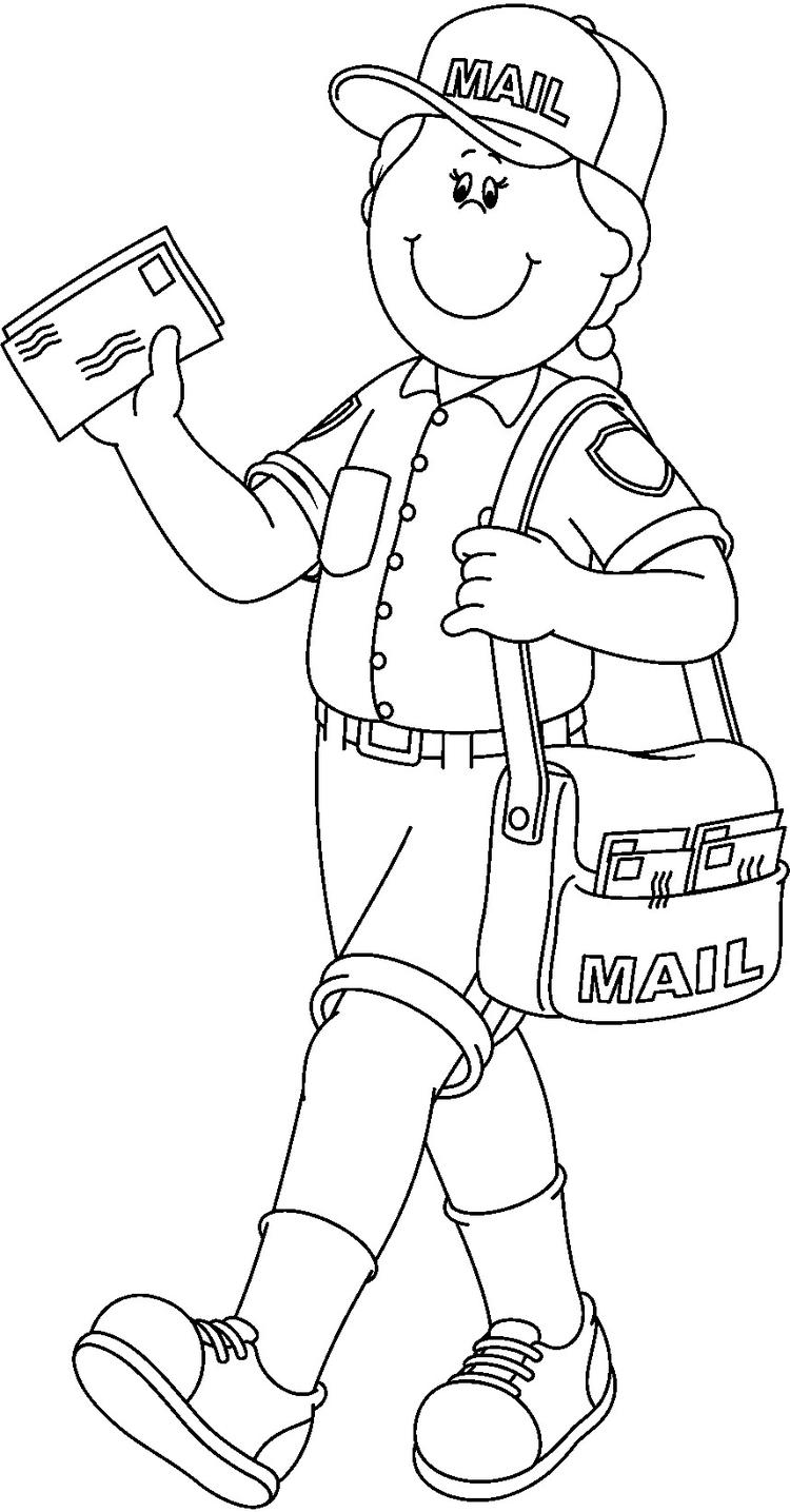 Postman Community Helpers Coloring Pages