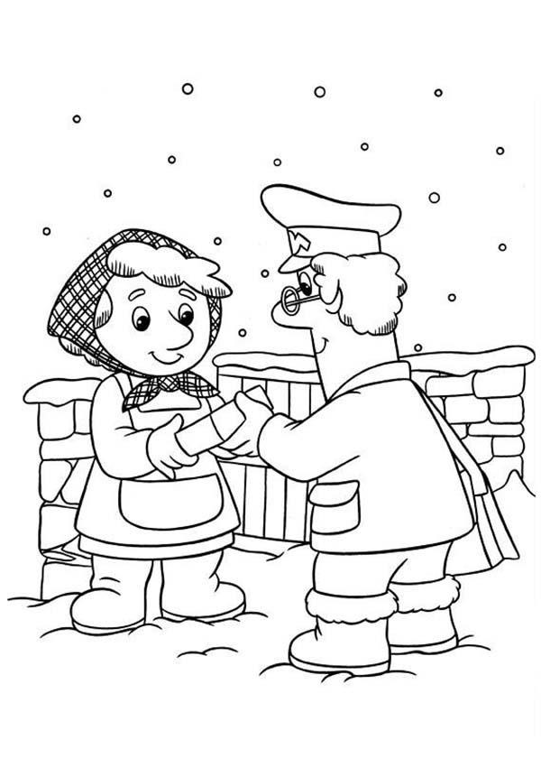Postman Pat Still Deliver Mail In Snow Weather Coloring Pages