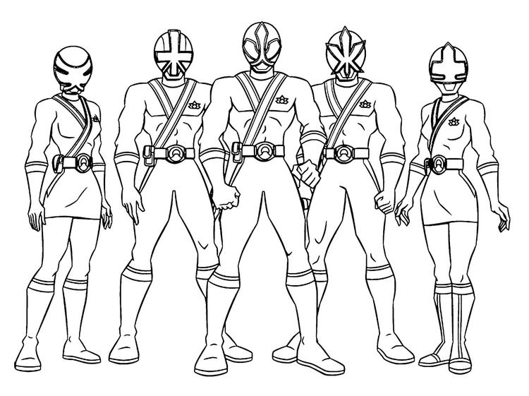 Power Ranger Coloring Pages All Rangers