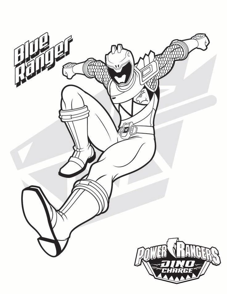 Power Ranger Coloring Pages Blue Ranger