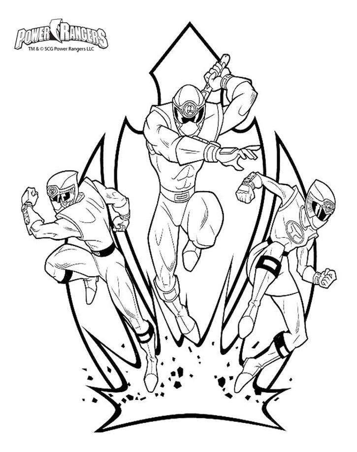 Power Ranger Coloring Pages For Boys