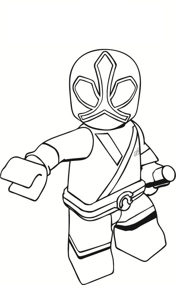 Power Ranger Coloring Pages Lego