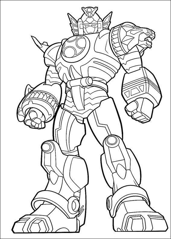 Power Ranger Coloring Pages Ninja Storm Zords