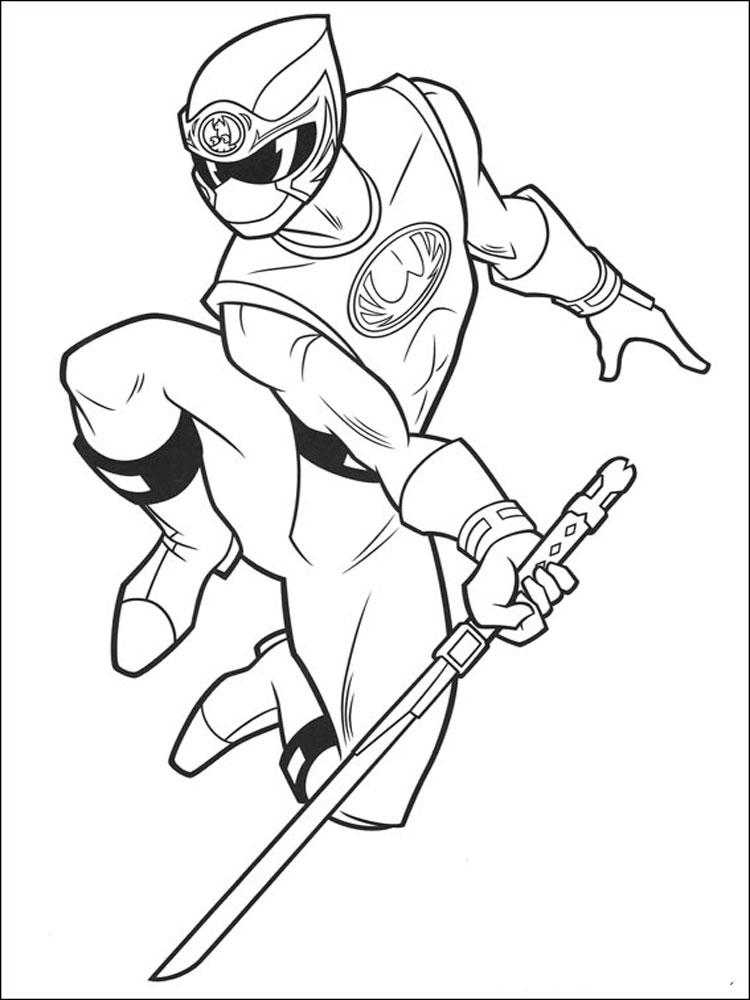 Power Ranger Coloring Pages Ninja Storm