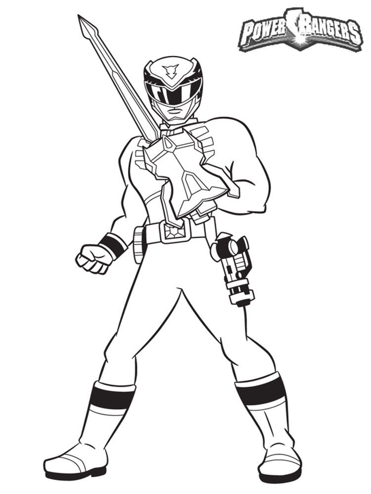Power Ranger Coloring Pages To Print
