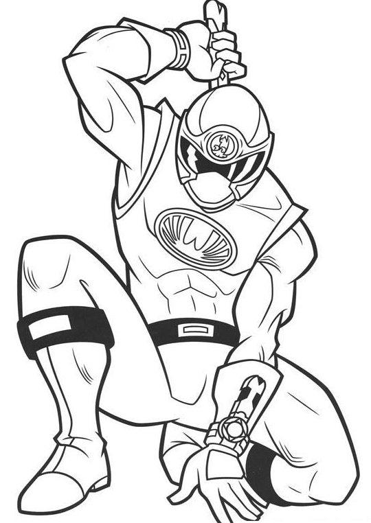 Power Ranger Samurai Coloring Pages For Kids